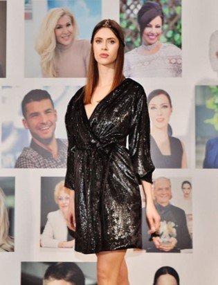 Авторските тоалети MP Design Официални рокли София MP Design Black Angel коктейлна рокля