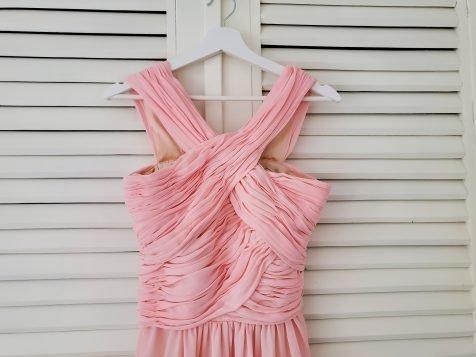 шаферска рокля розово
