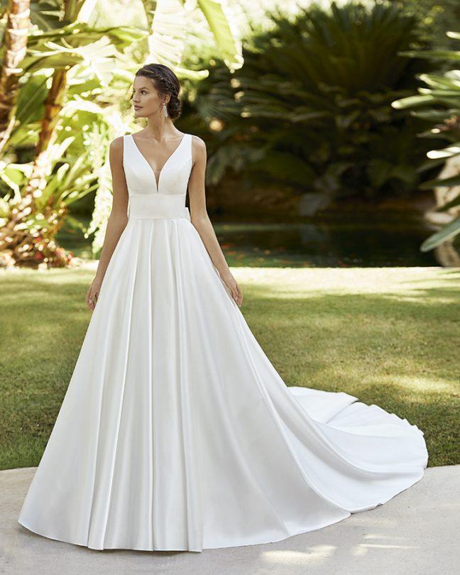 Булчинска рокля сатен 2021