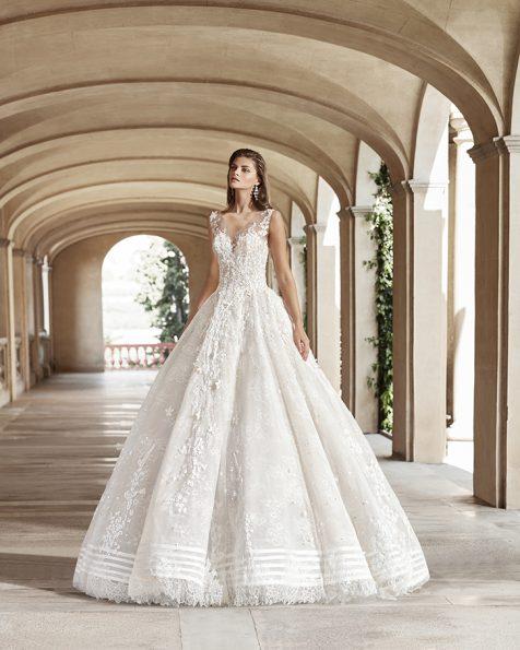 Булчински рокли София луксозни рокли от Испания 2021 Булчински рокли тип принцеса